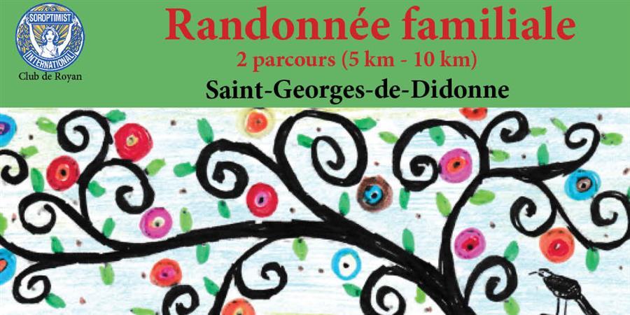RANDONNÉE FAMILIALE - SOROPTIMIST INTERNATIONAL - Club de Royan