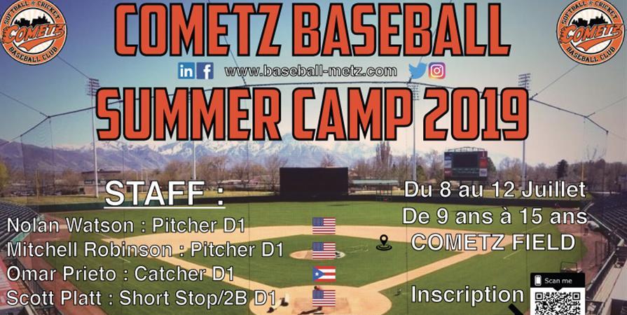 Cometz Summer Baseball Camp - Cometz baseball et softball club