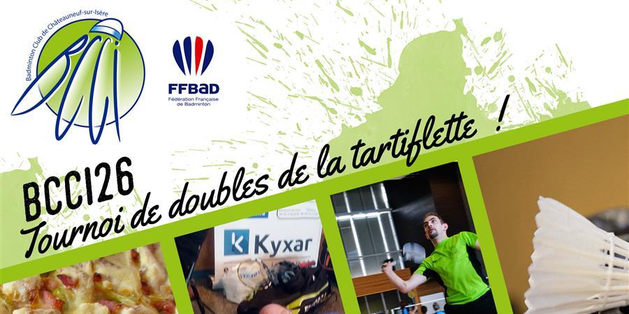 TOURNOI DE DOUBLES DE LA TARTIFLETTE 2019 - Badminton Club de Châteauneuf sur Isère