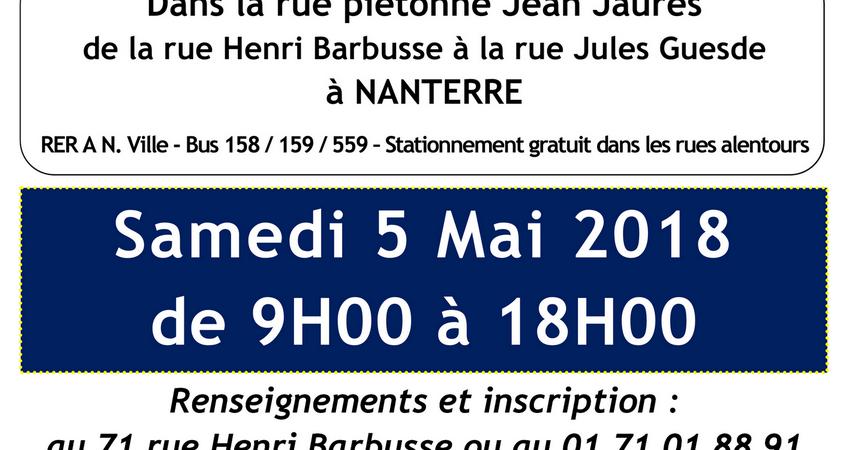 Vide-Grenier du Vieux-Pont - 5 mai 2018 - UNLI de Nanterre