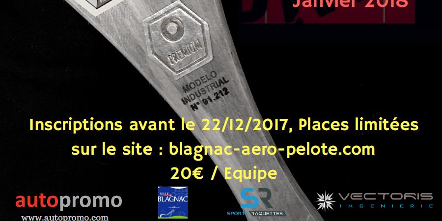 Tournoi Baline 19, 20 et 21 janvier 2018 - Blagnac Aéro Pelote