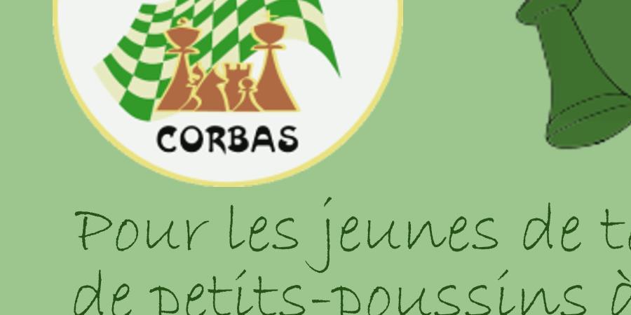15éme open rapide jeunes de Corbas - Echecs Club de CORBAS