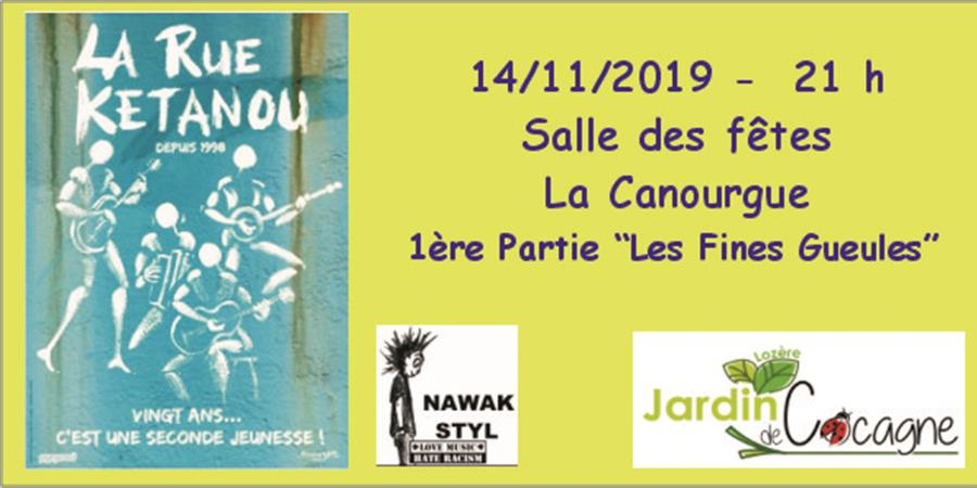 Concert La Rue Ketanou - Association Jardin de Cocagne Lozere