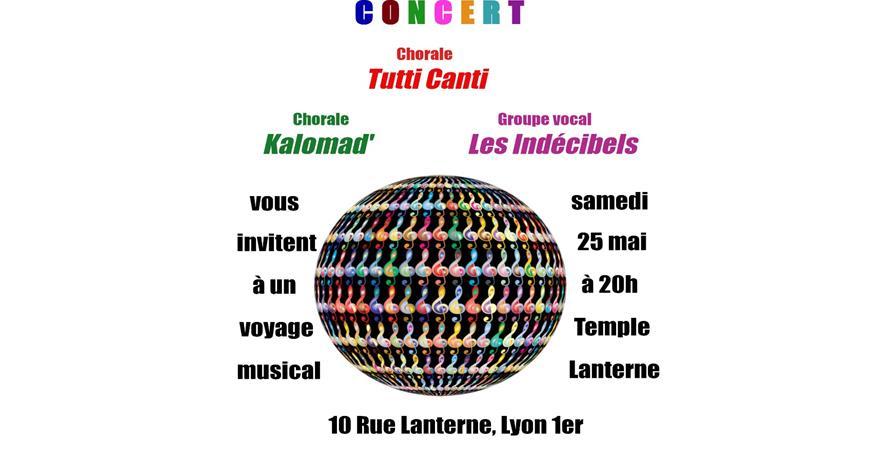 Concert TuttiCanti, Kalomad', Les Indécibels - Tutti Canti