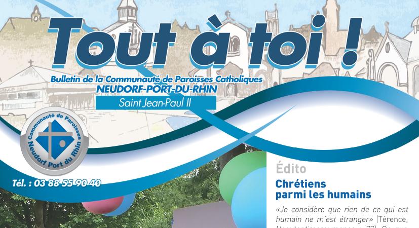 """Abonnement à la revue de la paroisse """"Tout à toi"""" - MENSE CURIALE"""