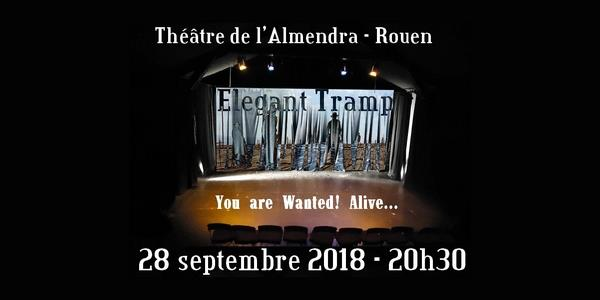 Elegant Tramp en concert au Théâtre de l'Almendra le vendredi 28/09 - TRAMP Production