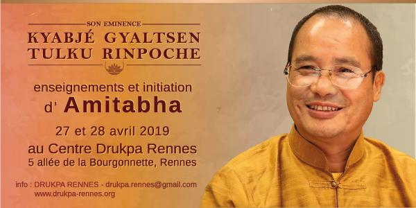S.E. Kyabjé Gyaltsen Tulku Rinpoché : enseignements et initiation d'Amitabha - DRUKPA RENNES
