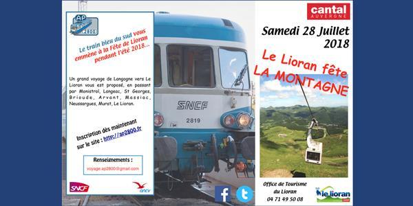 Le Lioran fête la montagne - Voyage à bord du train bleu du sud - AP2800