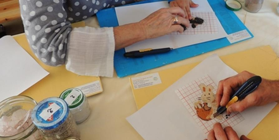 Atelier Cartes en sable - 24 octobre 2019 - Association du Musée du Sable