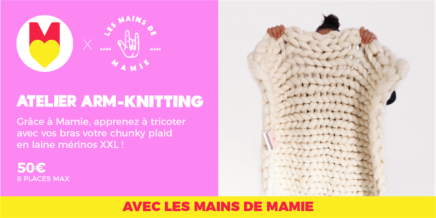 ATELIER ARM KNITTING - @lesmainsdemamie @GIRLS POWER STORE - 25/01/2020 - Les Premières Sud