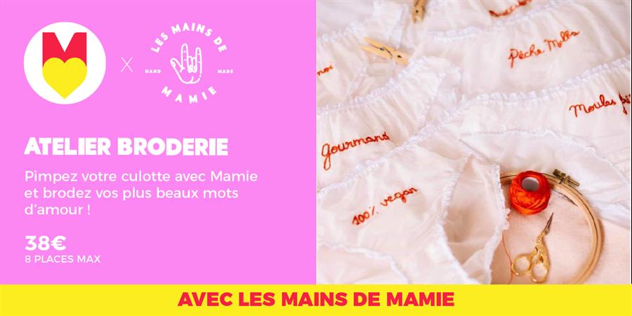 ATELIER BRODERIE - @lesmainsdemamie @GIRL POWER STORE 18/01/2020 - Les Premières Sud