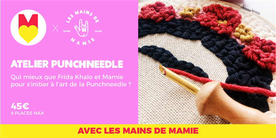 ATELIER PUNCHNEEDLE - @lesmainsdemamie @GIRLS POWER STORE - 21/01/2020 - Les Premières Sud