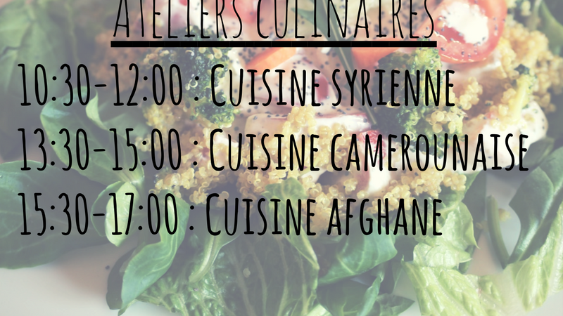 Ateliers culinaires - Makers For Change - Makers For Change