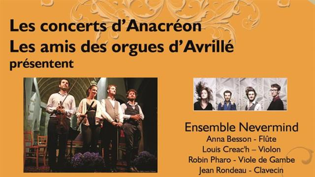 Concert de l'ensemble NEVERMIND - Association des Amis des Orgues d'Avrillé