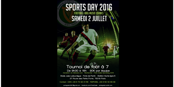 Paris Gaels SportsDay 2016 - Paris Gaels Football Association