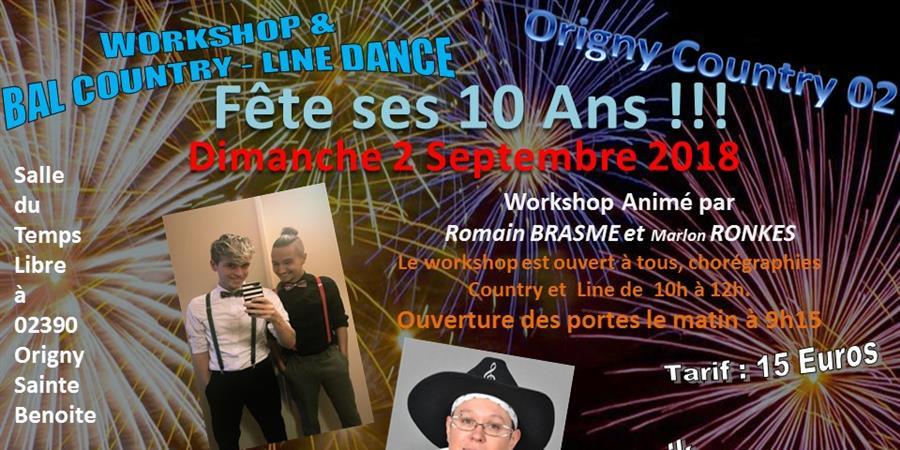 workshop avec Romain BRASME et Marlon RONQUE + Bal avec MIMUZIC - ORIGNY COUNTRY