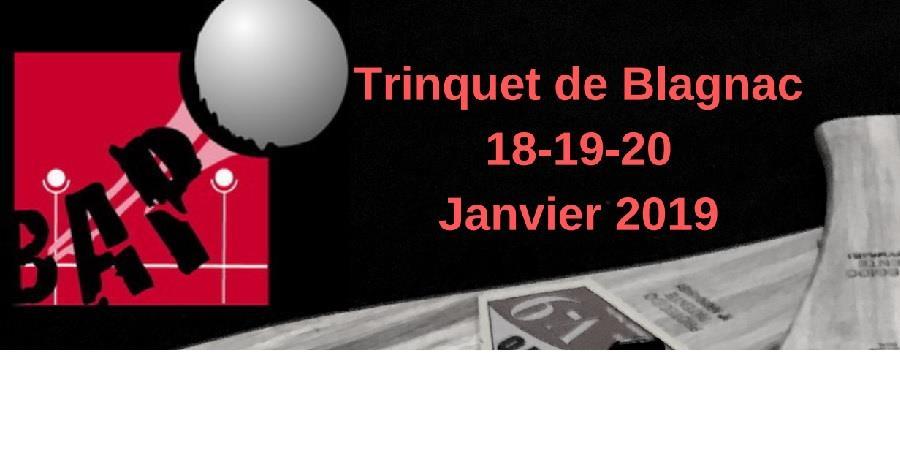 Tournoi Baline 18,19 et 20 janvier 2019 - Blagnac Aéro Pelote