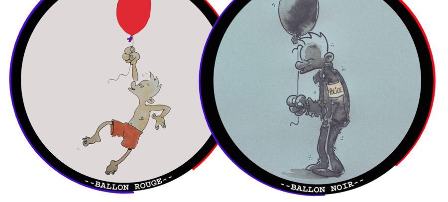 """Vente d'écussons """"Ballon Rouge"""" et """"Ballon Noir"""" - MOBILISATION DES POLICIERS EN COLERE"""
