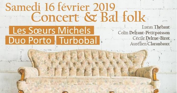 Bal folk avec Les Soeurs Michel, Turbobal et Duo Porto - La Campanule