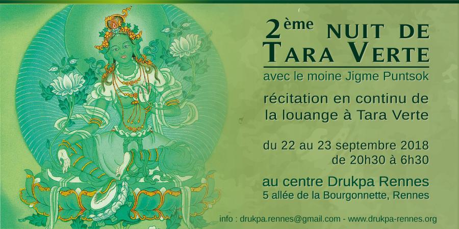 2ème nuit de Tara Verte (changement de date) - DRUKPA RENNES