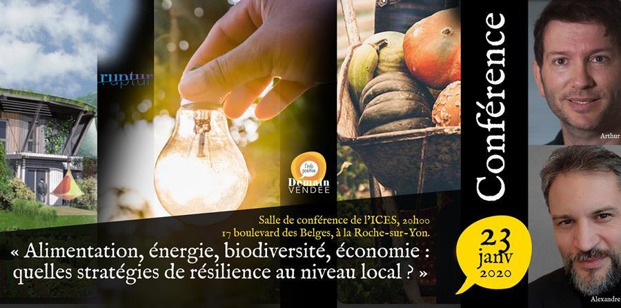 Conférence « Quelles stratégies de résilience au niveau local ? » - DEMAIN VENDEE
