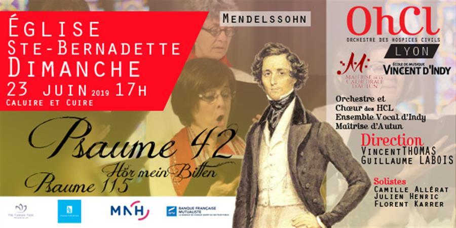 Concert Mendelssohn - Orchestre  des  Hospices  Civils  de  Lyon