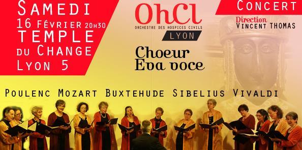 Concert Choeur Eva Voce et l'Ensemble à cordes de l'OHCl - Orchestre  des  Hospices  Civils  de  Lyon