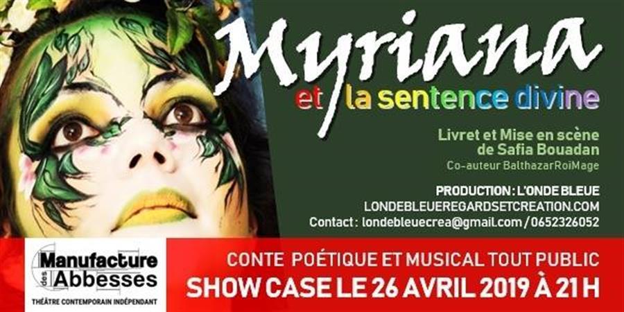 show case - Myriana et la sentence divine - L'Onde Bleue