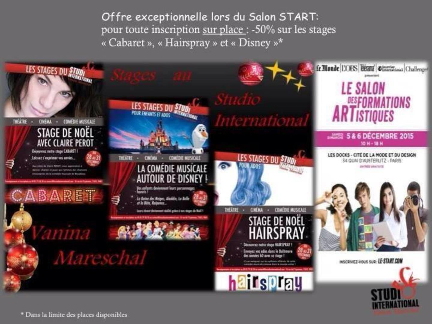 Promo stages de noel ! - STUDIO International Vanina Mareschal