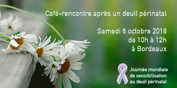 Bordeaux - samedi 6 octobre 2018 - café-rencontre après un deuil périnatal - Agapa