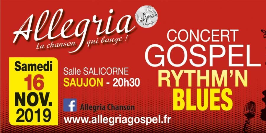 Concert Allegria à SAUJON  (La Salicorne) le 16 NOVEMBRE 2019 - Allégria la chanson qui bouge