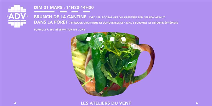 BRUNCH DU 31 MARS DE 11h30 A 14h30 - Les Ateliers du Vent