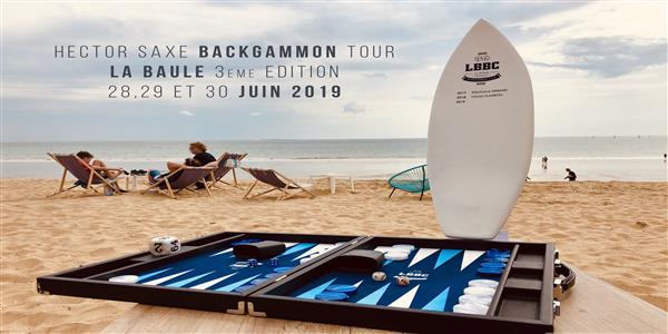 Hector Saxe Backgammon Tour La Baule 2019 - La Baule Backgammon Club