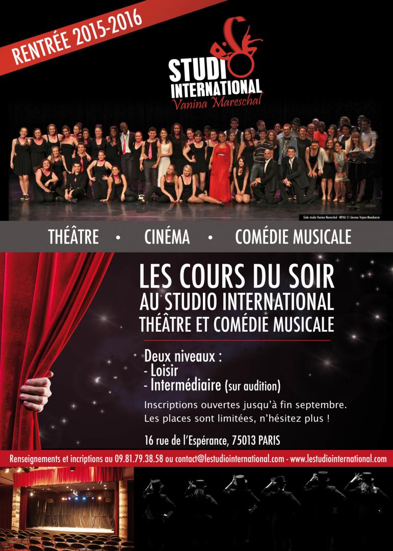 Cours de théâtre - STUDIO International Vanina Mareschal