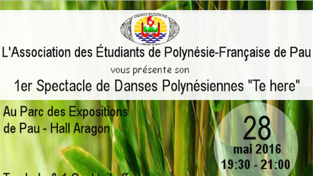 Spectacle de danse Polynésienne - Tahiti mai te matamua (AEPF Pau) - Association des Étudiants de Polynésie-Française de Pau (AEPF Pau)
