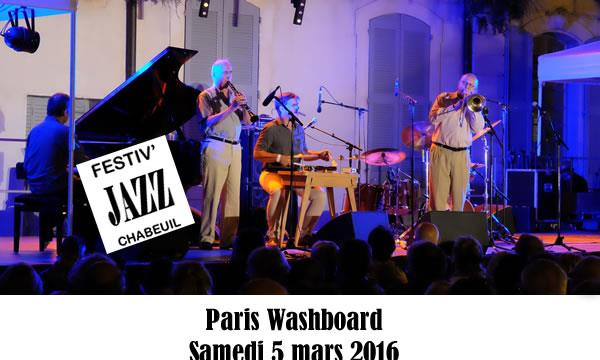 Festiv'Jazz Printemps 2016 - Samedi 5 mars : Paris WashBoard - Festiv'Jazz