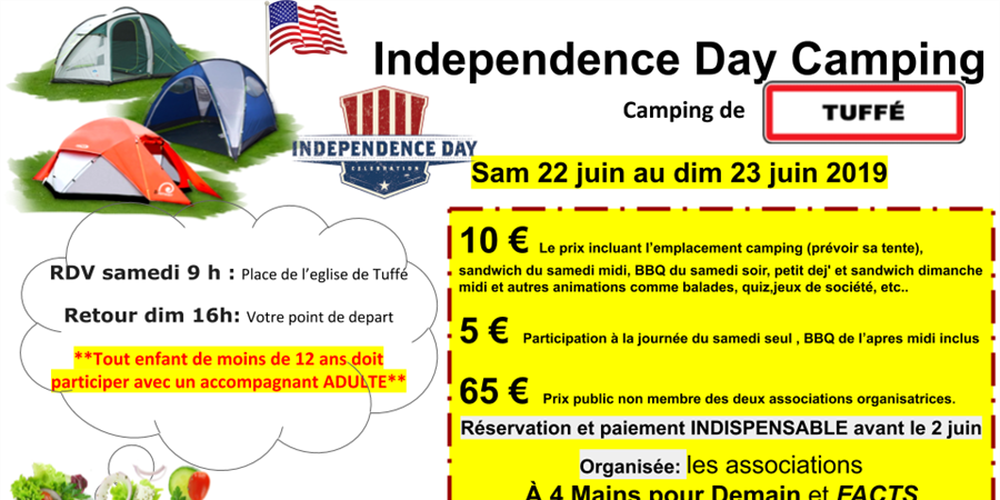 Camping et Safety Day le 22 juin 2019 - French American Center of Tuffe and Senegal