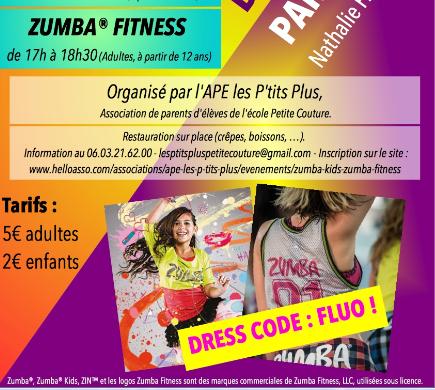 """DANCE PARTY : ZUMBA® Kids / ZUMBA® Fitness - APE """"Les P'tits Plus"""""""
