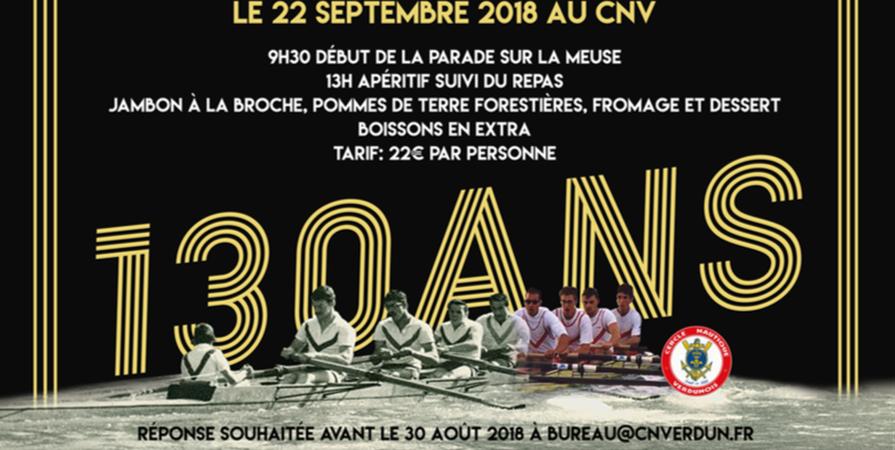 130 ans du Cercle Nautique Verdunois - Cercle Nautique Verdunois