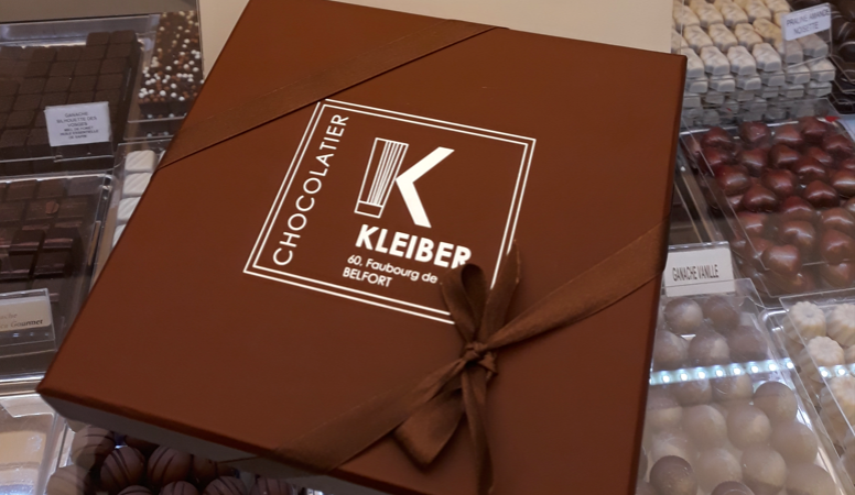 Campagne Chocolats pour les Fêtes du Chocolatier KLEIBER (Belfort) - Traces Communes