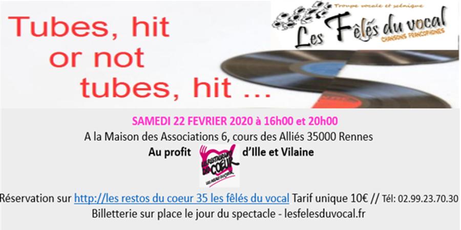 """Les Fêlés du Vocal  """"Tubes, hit or not tubes, hit .... """" - LES RESTOS DU CŒUR DE L'ILLE ET VILAINE"""