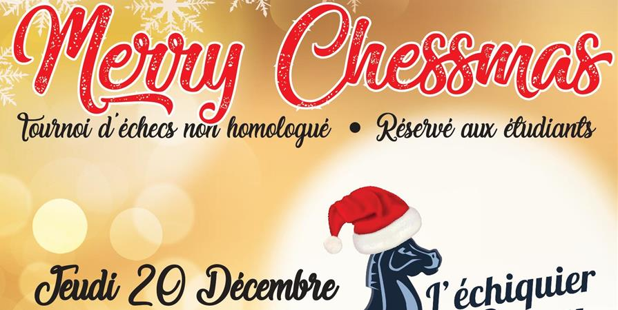 MERRY CHESSMAS - Échiquier de Cergy