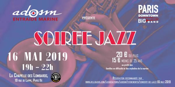 Concert de  Jazz - 16 mai 2019 - ADOSM