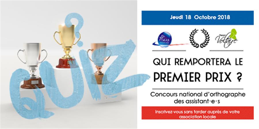 SEMAINE DES METIERS Concours VOLTAIRE (orthographe)  - FFMAS Haute-Garonne