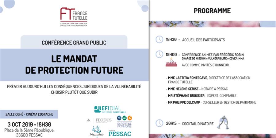 Conférence sur le Mandat de Protection Future  - FRANCE TUTELLE