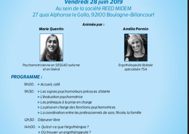 Conférence : Autisme, psychomotricité et ergothérapie  - La Vie En Bleu
