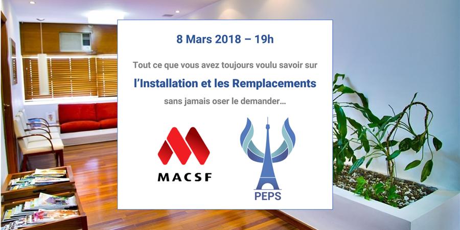 Soirée Conseils sur l'Installation et les Remplacements - PEPS - Paris en Psychiatrie