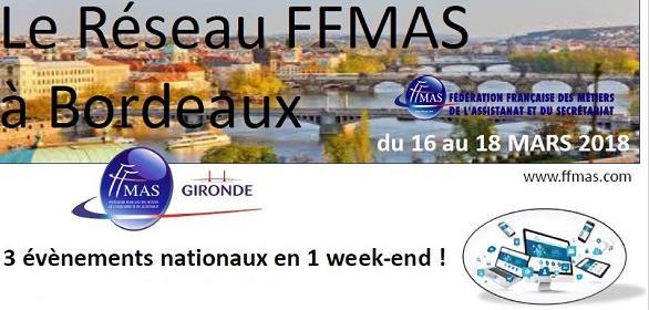 1er Congrès Région Aquitaine et Rencontres Nationales par la FFMAS Gironde - Fédération Française des Métiers de l'Assistanat et du Secrétariat