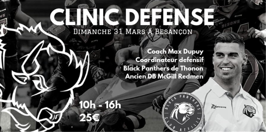 FOOTBALL CLINIC DEFENSE - Besançon Bisons