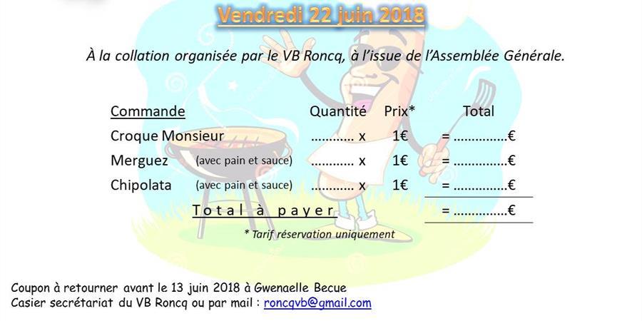 Barbecue A.G. 2019 - Volley Ball de Roncq